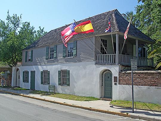 Conzalez-Alvarez House, ca. 1702, 14 St. Francis Street, St. Augustine, FL, National Register