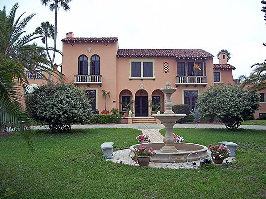 Bartholomew J. Donnelly House, ca. 1929, 801 North Peninsula Drive, Daytona Beach, FL, National Register