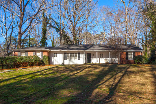 Home on Briarcliff Road, ca. 1954, Shirley Hills Historic District, Macon, GA, National Register