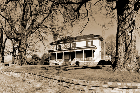 Penn Place, ca. 1850s, Penn Bridge Road, Trion, GA, National Register