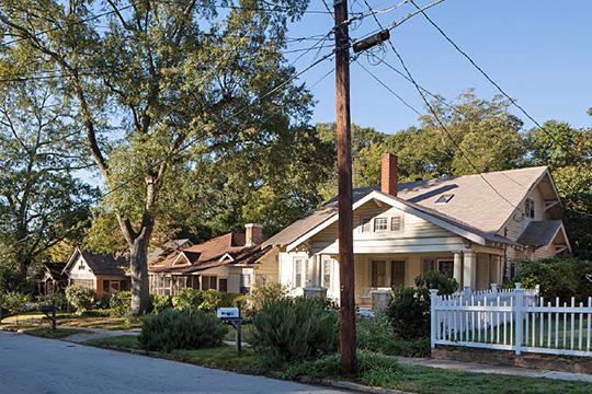 Homes on Kings Highway, McDonough-Adams-Kings Highway Historic District, Decatur, GA.
