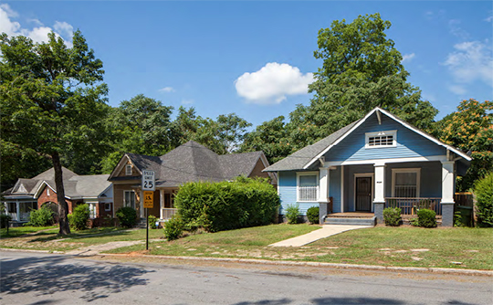 Homes in the 1400 block of Belmont Avenue, Capitol View Historic District, Atlanta, GA, National Register