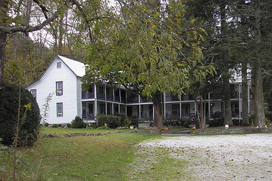 York House, ca. 1840s, Route 23/441, Mountain City, GA, National Register