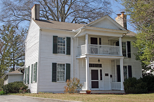 Ainsworth E. Blunt House, ca. 1848, 506 South Thornton Avenue, Dalton, GA, National Register