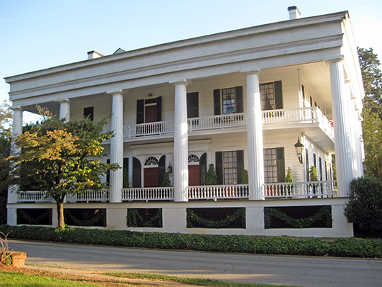 Campbell-Jordan House, ca. 1797/1841, 208 Liberty Street, Washington, GA, National Register