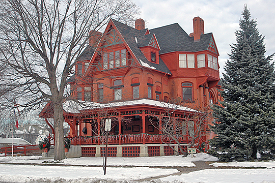 George M. Curtis House, ca. 1883, 420 South 5th Avenue, Clinton, IA, National Register