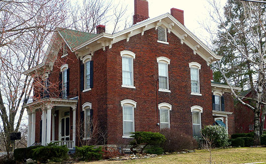 James M. Forney House, ca. 1864, 401 Cedar Street, Burlington, Iowa, National Register