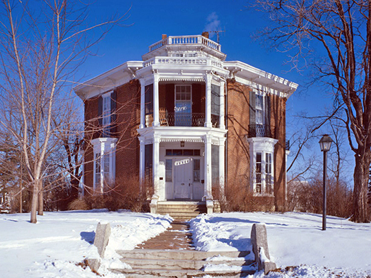 Edward Langworthy House, ca. 1856, 1095 West Third Street, Dubuque, IA, National Register