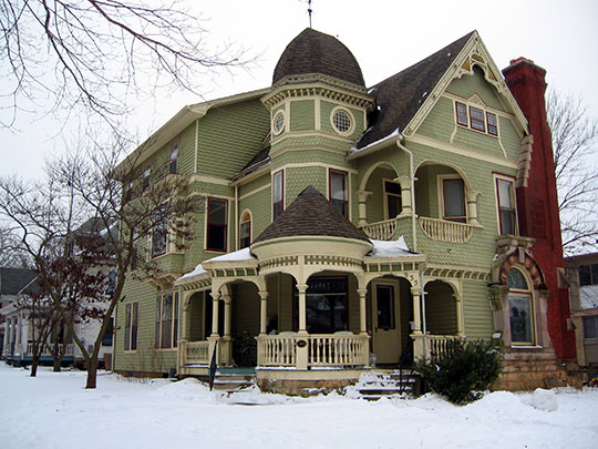 Linsay House, ca. 1893, 935 East College Street, Iowa City, IA, National Register.