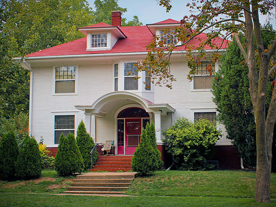 Emma J. Harvat and Mary E. Statch House (De Saint Victor House), ca. 1918, 332 East Davenport Street, Iowa City, IA, National Register