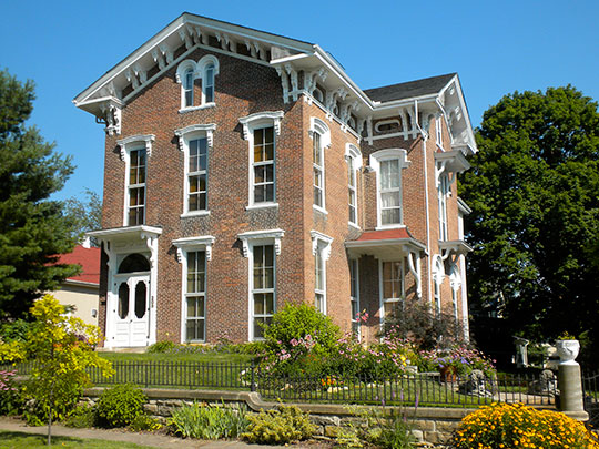 Hugh W. and Sarah Sample House, ca. 1859, 205 North Second Street, Keokuk, IA, National Register