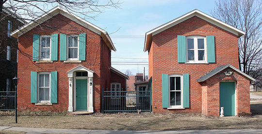 Calder Houses, ca. 1868, 1214 and 1216 2nd Avenue SE, Cedar Rapids, IA, National Register