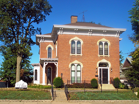 Thaddeus Binford House, ca. 1874, 110 North 2nd Avenue, Marshalltown, IA, National Register
