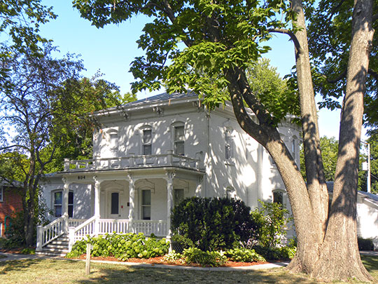 Professor J. L. Budd, Sarah M., and Etta Budd House, ca. 1880s, 1204 Avenue H, Ames, IA, National Register