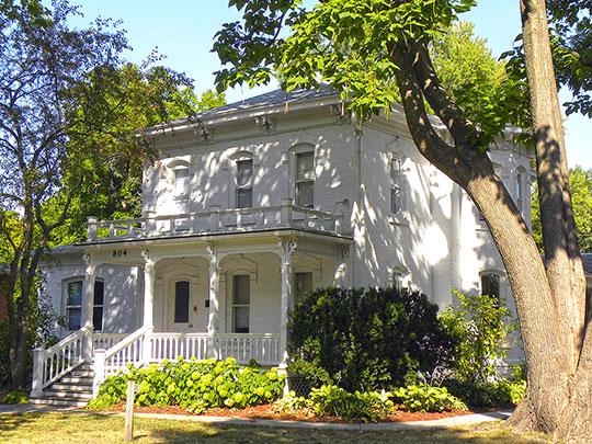Professor J.L. Budd, Sarah M., and Etta Budd House, ca. 1885, 804 Kellogg Avenue (Old Town Historic District), Ames, IA