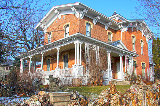 Ellsworth-Porter House, ca. 1867, 401 West Broadway Street, Decorah, IA, National Register