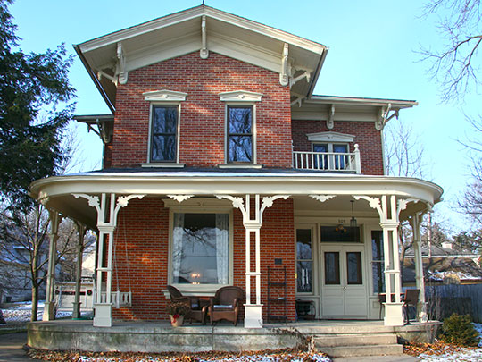 Cooley-Whitney House, ca. 1866, 305 Grove Street, Decorah, IA, National Register