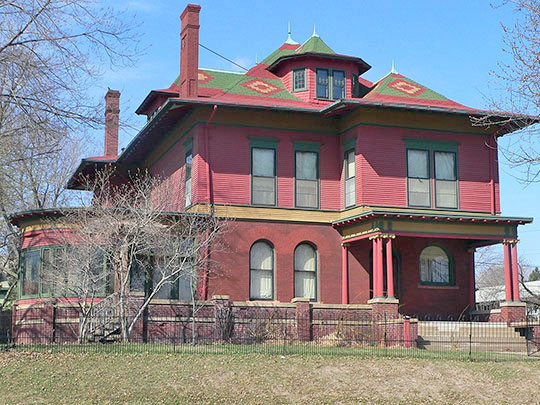 Elzy G. Burkam House, ca. 1894, 1525 Douglas Street, Sioux City, IA, National Register