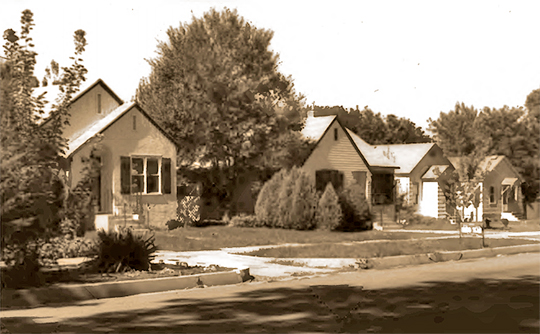 Homes in the Caldwell Residential Historic District, Everett Street between 16th and 17th Avenues, Caldwell, ID, National Register