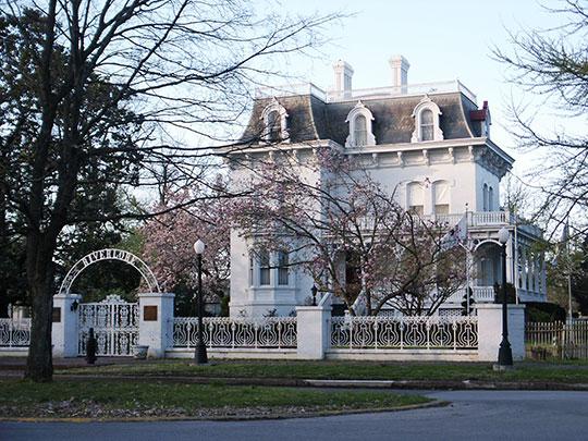 Riverlore Mansion, ca. 1865, 2723 Washington Avenue (Millionaire's Row), Cairo, IL