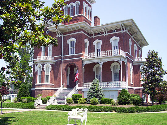 Magnolia Manor, ca. 1869, 2700 Washington Avenue, Cairo, IL, National Register