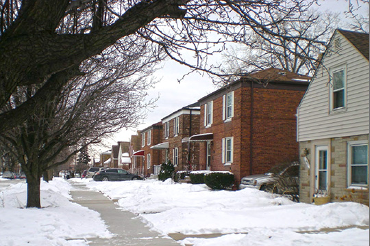 Homes on South Lavergne Avenue, Chrysler Village, Chicago, IL, National Register
