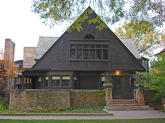 Frank Lloyd Wright, home, workshop, ca. 1889, 951 Chicago Avenue, Oak Park, Cook County, IL