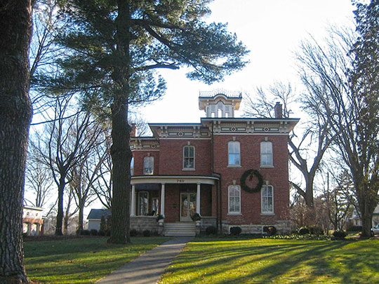 William W. Marsh House, ca. 1873, 740 West State Street, Sycamore, IL, National Register