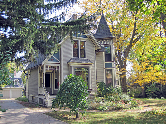Whittle-Meacham House, ca. 1889, 583 North Main Street, Main Street Historic District, Glen Ellyn, IL, National Register