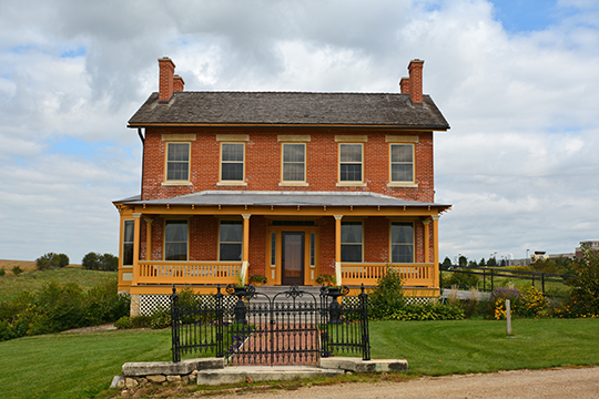 Henry W. Miller House, ca. 1847, 11672 West Norris Lane, Galena, IL, National Register