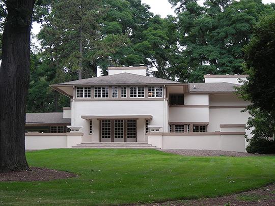 Mrs. A. W. Gridley House, ca. 1906, 605 North Batavia Road, Batavia, IL, Frank Lloyd Wright, National Register