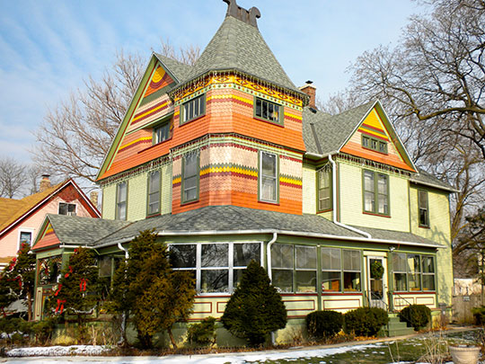 Home in the Spring-Douglas Historic District, Elgin, IL, National Register