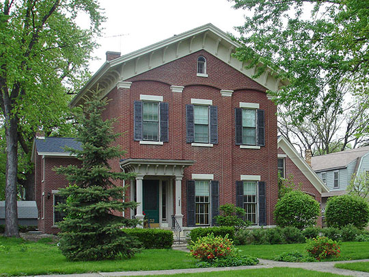 Jeremiah Strawn House, ca. 1855-1870, 532 Congress Street, Ottawa, IL, National Register