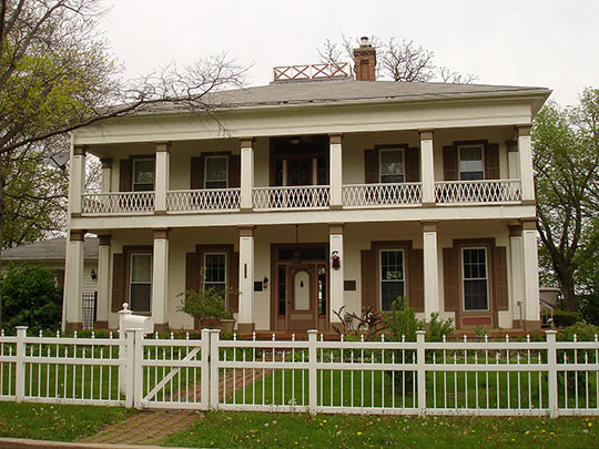 John Hassock House, ca. 1855, 210 West Prospect Street, Ottawa, IL, National Register