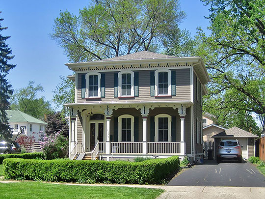 Home in the Ottawa East Side Historic District, Ottawa, LaSalle County, IL, National Register