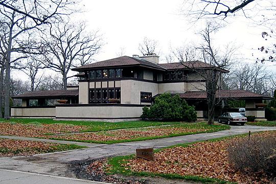 Ward W. Willits House, Highland Park, IL, designed by Frank Lloyd Wright