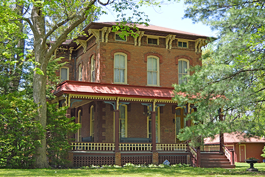 Hoblit House, ca. 1874, 505 North College Avenue, Lincoln, IL, National Register