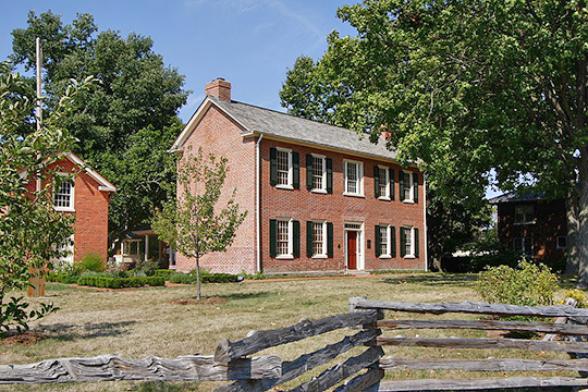 benjamin stephenson house, 1820, national register, south buchanan street,edwardsville,madison county,il