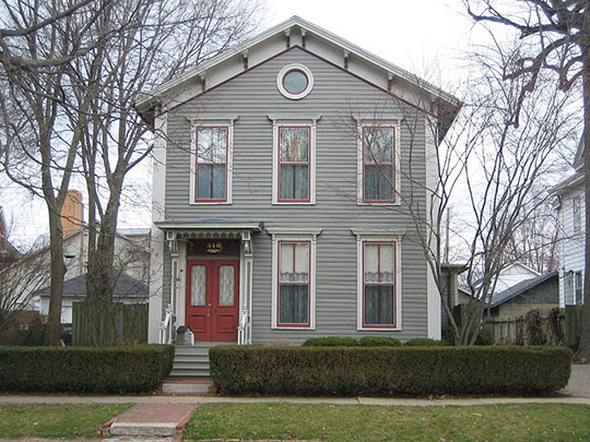 Ruben M. Benjamin House, ca. 1856, 510 East Grove Street, Bloomington, IL, National Register