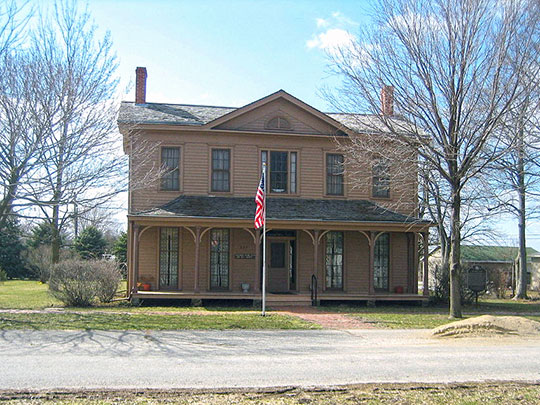 Matthew T. Scott House, ca. 1855/1863, 227 First Avenue, Chenoa, IL, National Register