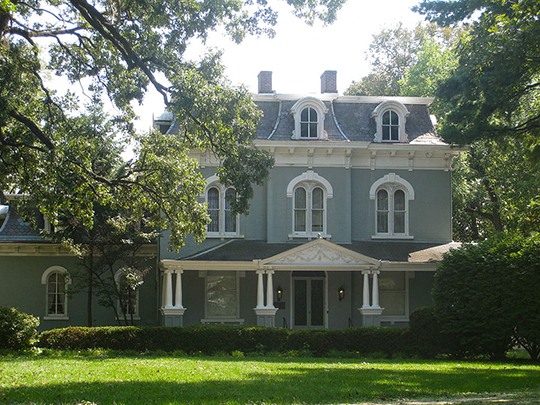 Pettingill-Morron House, ca. 1868, 1212 West Moss Avenue, Peoria, IL, National Register