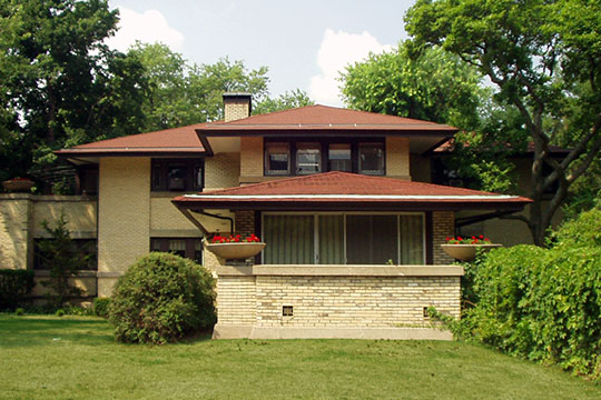 Francis W. Little House I, ca. 1903, 1505 West Moss Avenue, Peoria, IL, Frank Lloyd Wright.