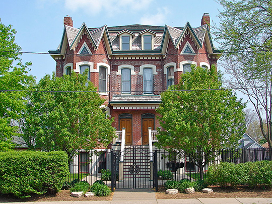 Home in the Broadway Historic District, Rock Island City, IL, National Register