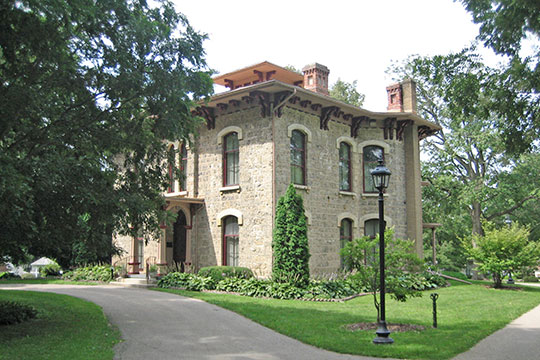 Oscar Taylor House, ca. 1857, 1440 South Carroll Avenue, Freeport, IL, National Register
