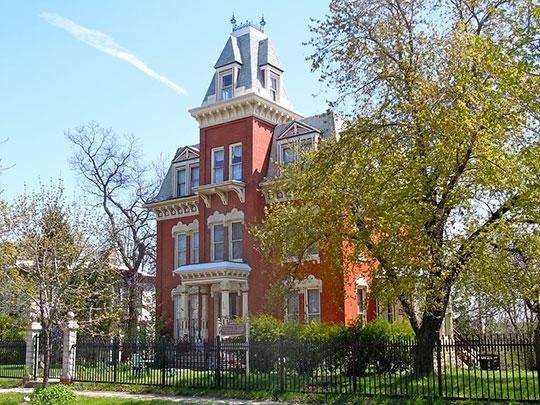 Hiram B. Scutt Mansion, ca. 1882, 206 North Broadway, Joliet, IL, National Register