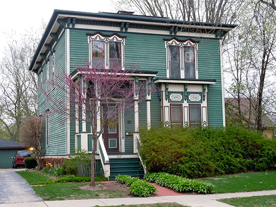 House in the Upper Bluff Historic District, Joliet, IL.