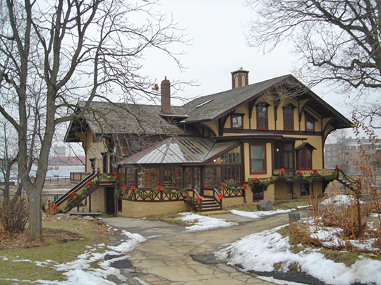 Tinker Swiss Cottage, ca. 1870, 411 Kent Street, Rockford, Winnebago County, IL, National Register