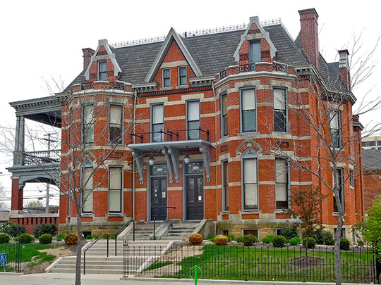 McColloch-Weatherhogg Double House, ca. 1881, 334-336 East Berry Street, Fort Wayne, IN, National Register