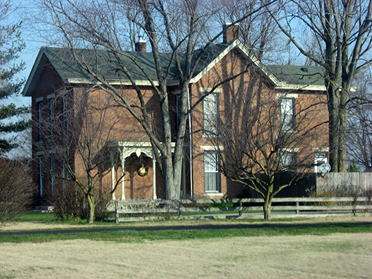 David Aikens Farmhouse, jonesville road, national register, columbus township, national register,bartholomew county,in