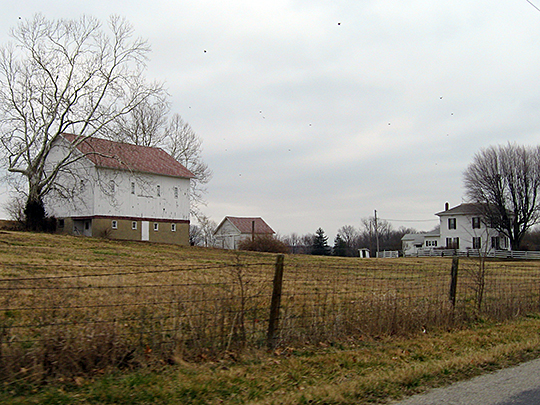 Pryor Brock Farmstead, ca. 1878, 8602 County Road 500 South, Eagle Township, Boone County, IN, National Register
